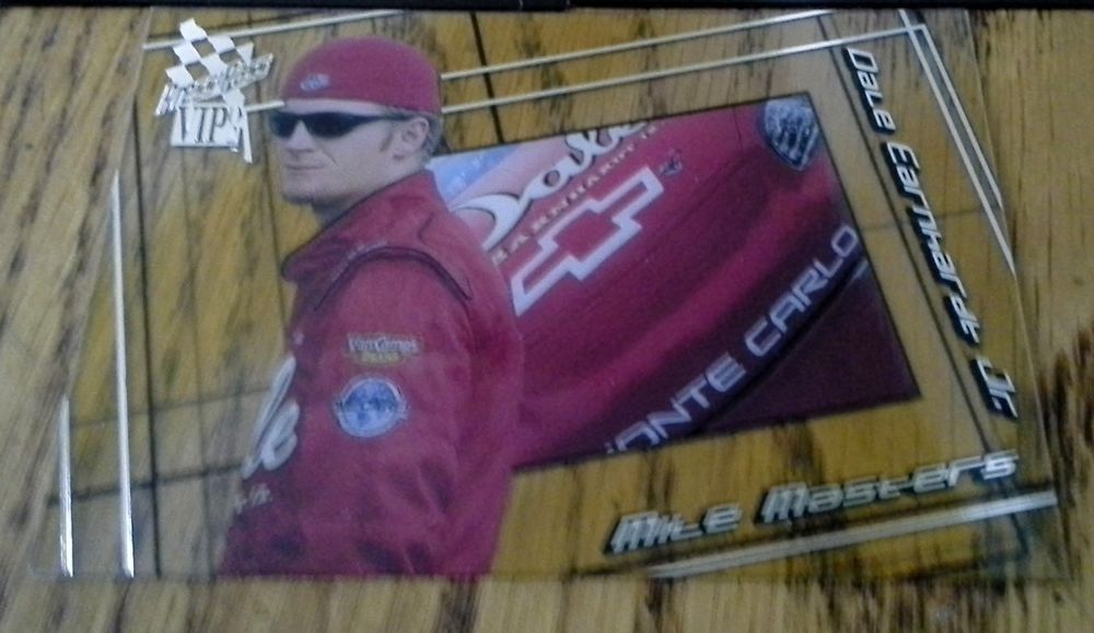 PRESS PASS VIP 2002 NASCAR DALE EARNHARDT Jr. CLEAR MILE MASTER TRADING CARD