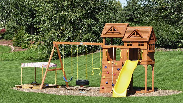 Ogrodowy Plac Zabaw Ile To Kosztuje Kids Backyard Playground Backyard Playground Playground Landscaping
