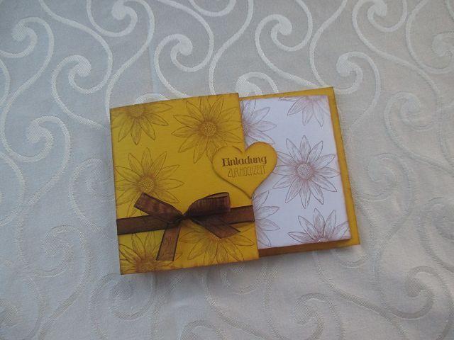 Einladung Zur Hochzeit Thema Sonnenblume