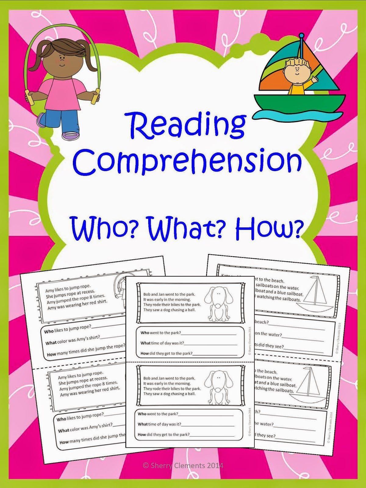 Dr Clements Kindergarten Reading Comprehension Who What How Reading Comprehension Kindergarten Reading Comprehension [ 1600 x 1200 Pixel ]