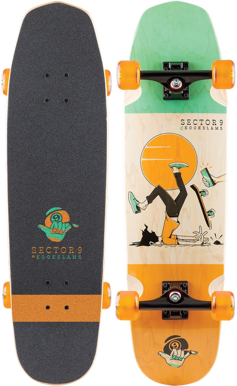 Sector 9 Kookslams X Sector 9 Nosegrind 33 Complete Skateboard In Stock Now At Tactics Boardshop Fast Free S Cool Skateboards Skateboard Painted Skateboard