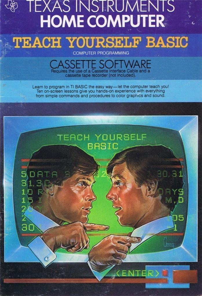 TI 99 4A Used Teach Yourself Basic TI Educational Cassettes Manual