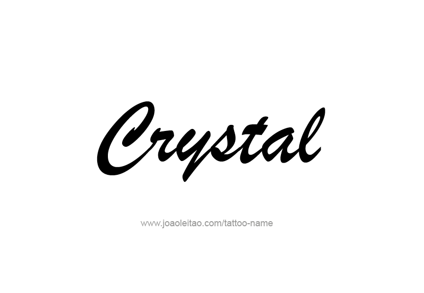 Crystal Name Tattoo Designs Tattoo Designs Name Tattoos Name Tattoo Designs
