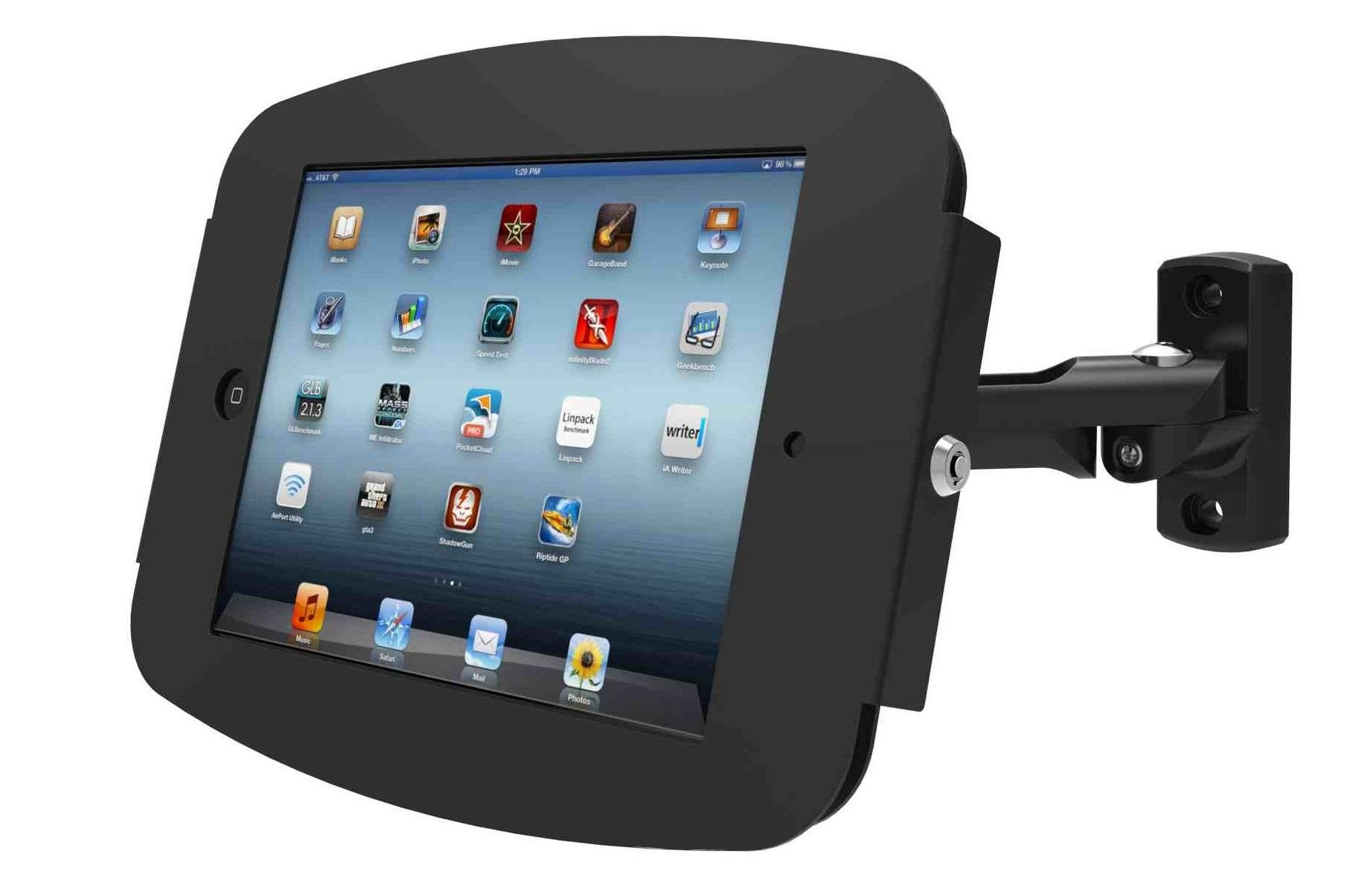 Lockable Ipad Wall Mounts Painted To Match The Space Tablet Accessories Ipad Mini Ipad