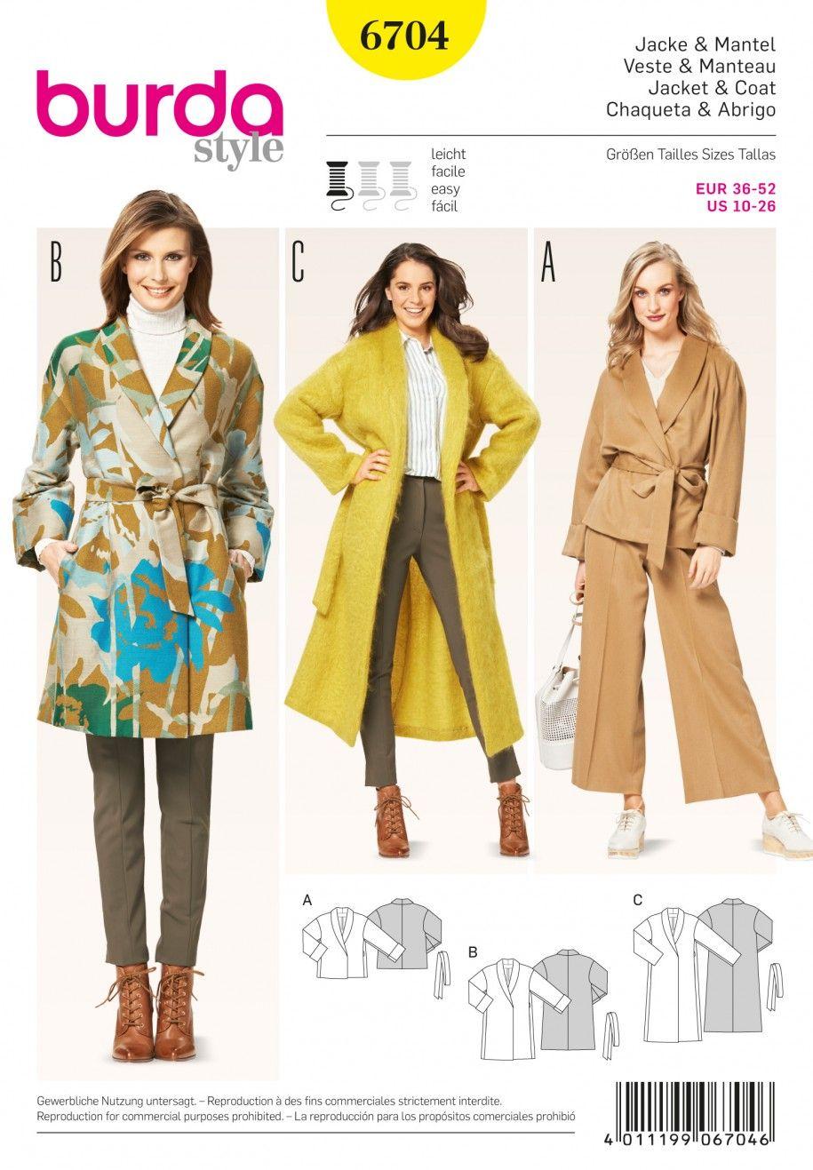 Misses Dress Sash Trench Coat Pattern Coat Pattern Sewing