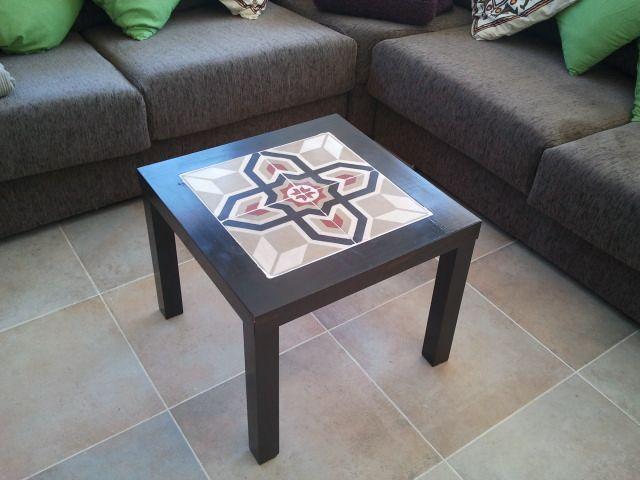 Ikea hack la mesa lack con baldosas hidr ulicas baldosas hidraulicas pinterest baldosa - Mesa lack ikea medidas ...