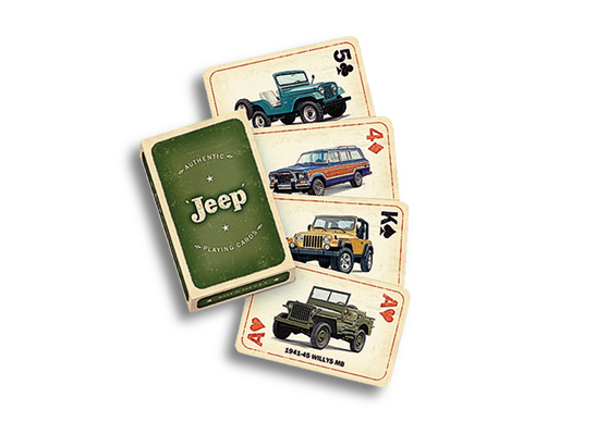 Authentic Jeep Playing Cards Crafted By The Jeep Creative Team At Bbdo Detroit Playing Card Crafts Jeep Card Craft