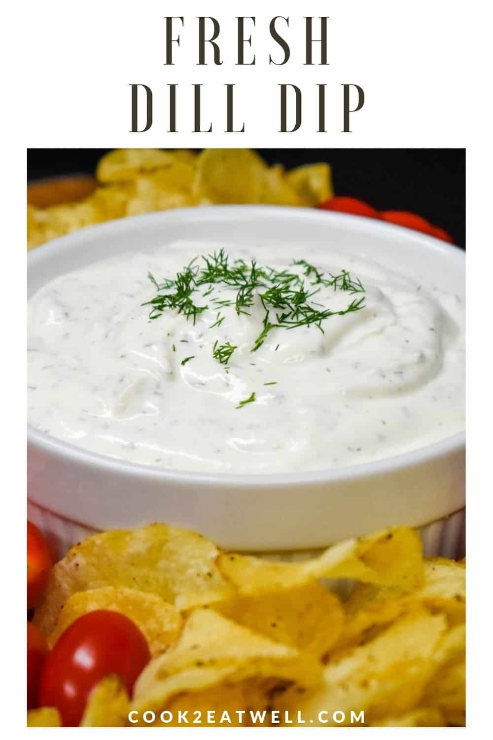 This Dill Dip Recipe Is Quick And Easy To Make This Creamy Dip Is Made With Sour Cream Cream Cheese And Flav Dill Dip Dill Dip Recipes Fresh Dill Dip Recipe