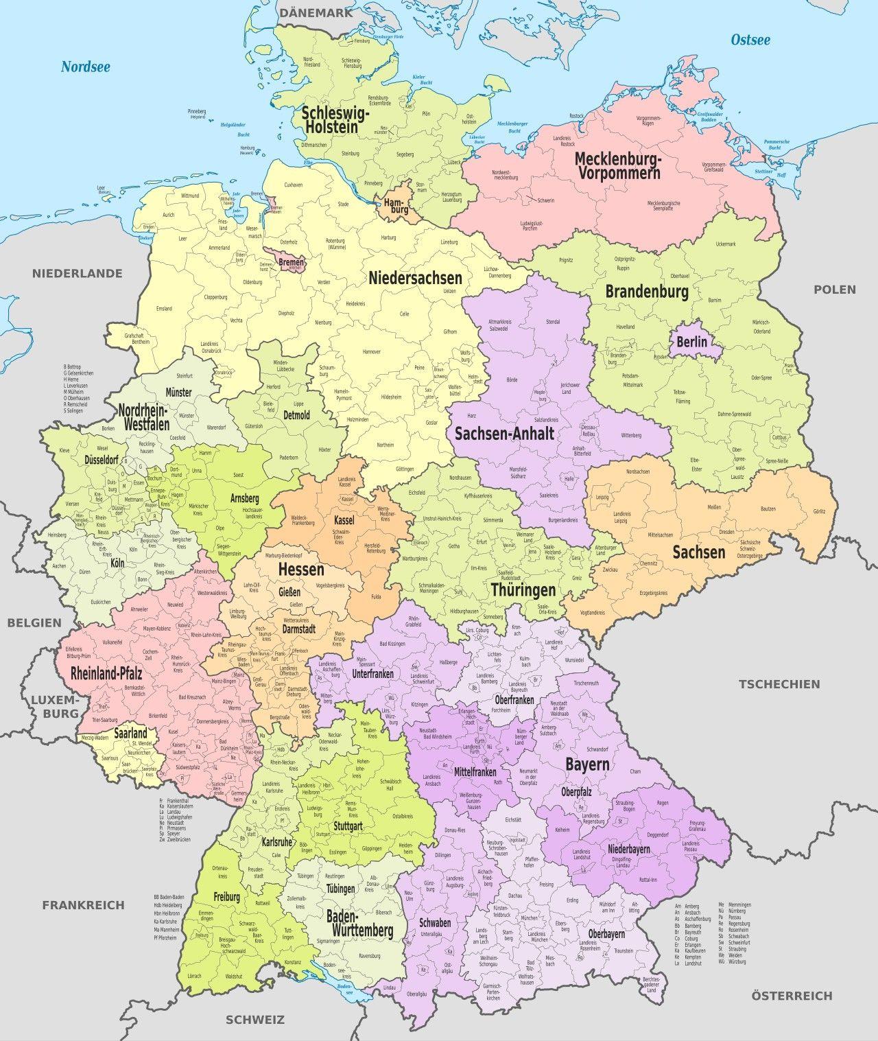 Pin Von Astrid Schubert Auf Reise Deutschlandkarte Landkarte