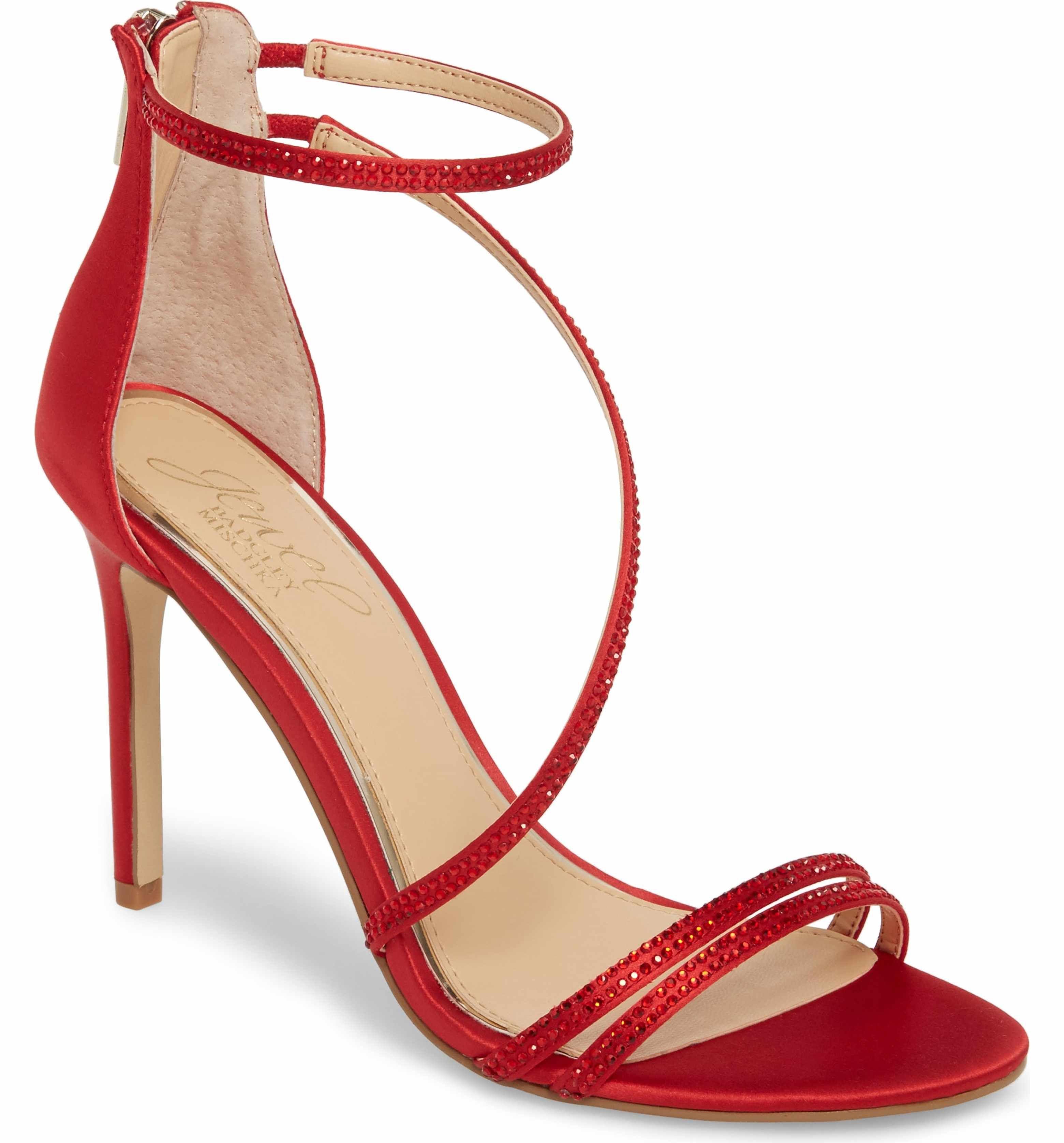 f07e772688c Main Image - Jewel Badgley Mischka Gail Crystal Embellished Sandal (Women)