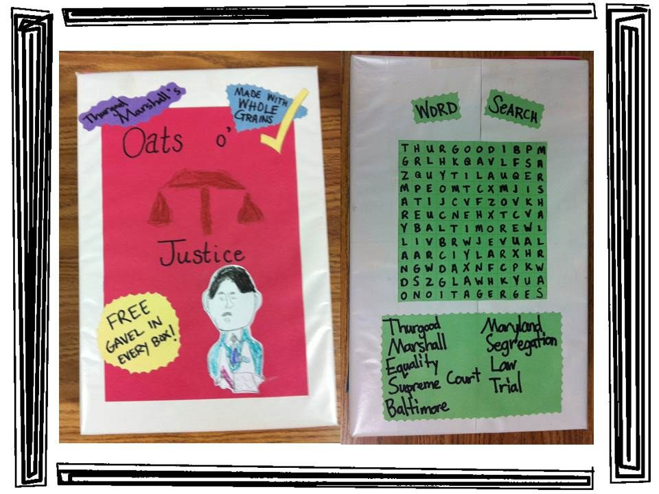 Black history month cereal box biography with rubric for Cereal box project for school