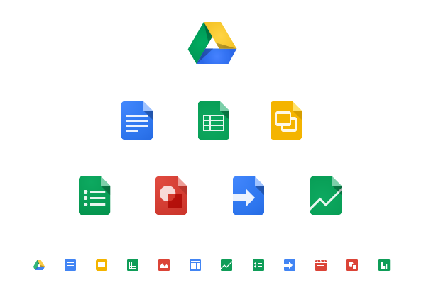 Google Drive Icons By Zachary Gibson Via Behance Icon Creative Icon Seo Packages