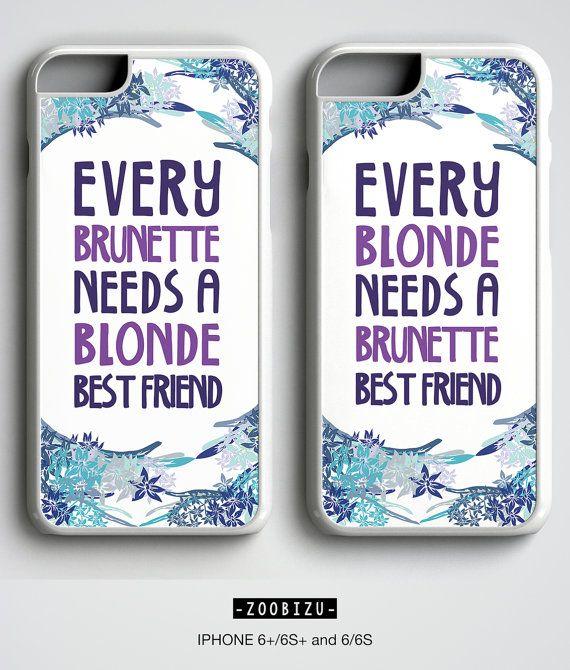 the best attitude d1c46 35d5a Best Friend Phone Case Blonde Brunette Gift, BFF Gift case ...