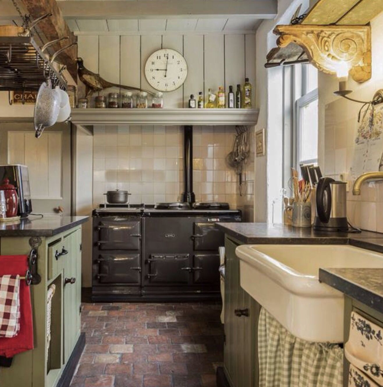 Brick Flooring Kitchen: Love!...brick Floor, The Stove., The Sink. Only Thing No
