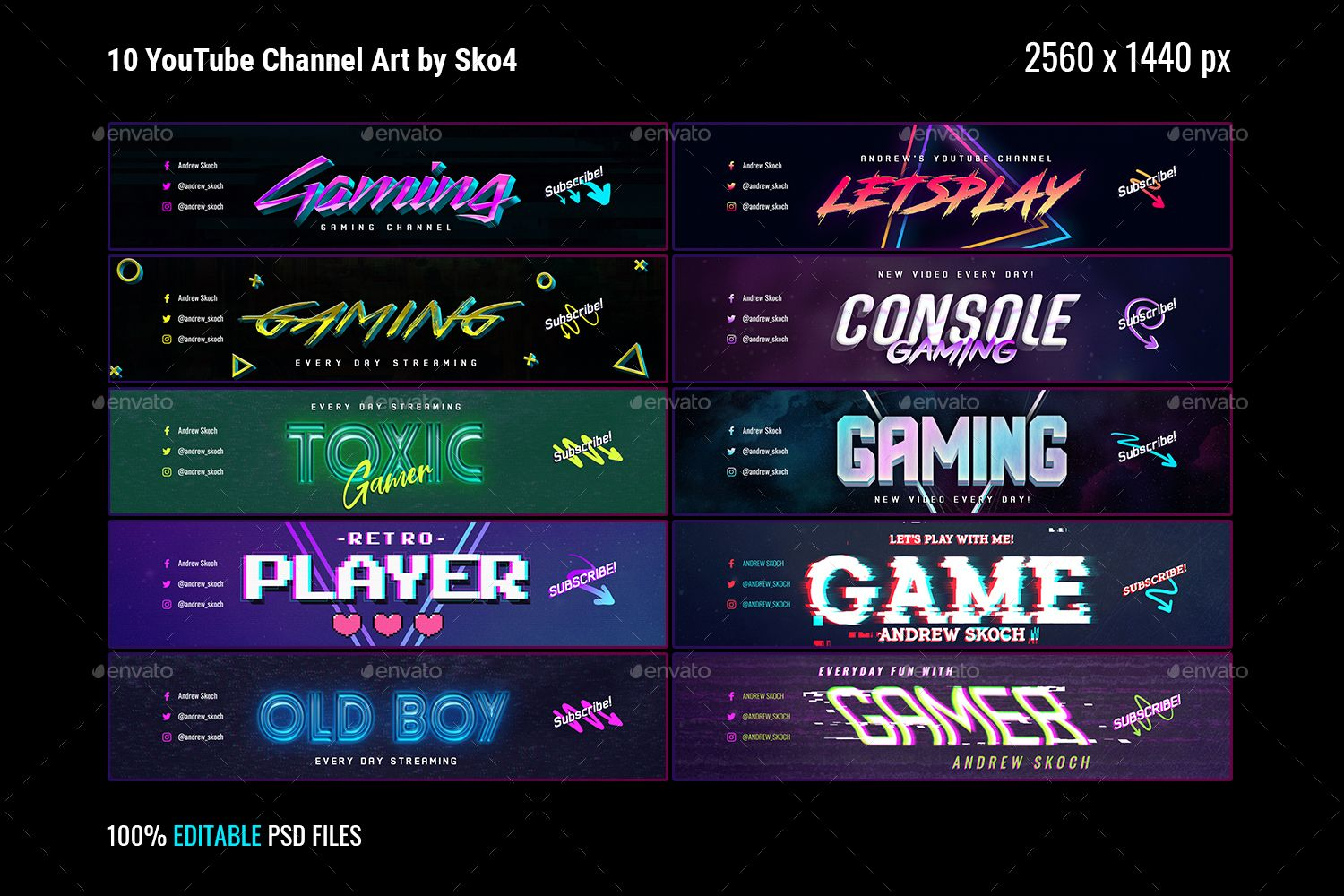 Gaming YouTube Channel Art Channel art, Youtube channel