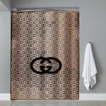 Inspired Gucci Shower Curtain