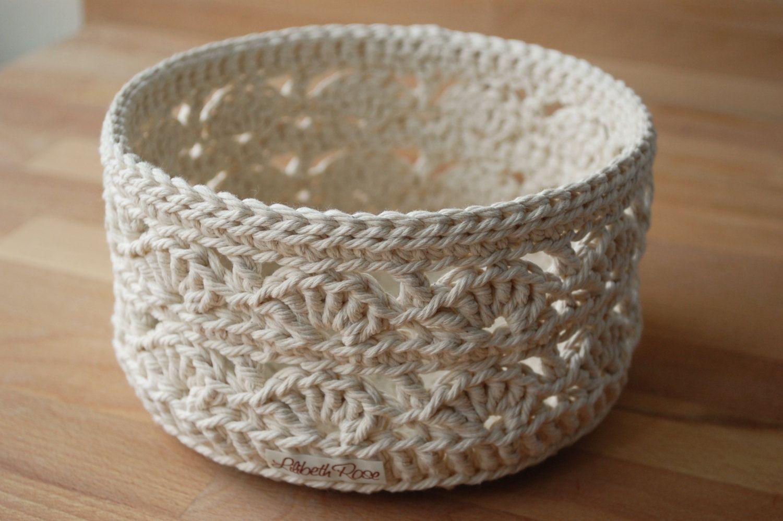Lace Crochet Basket large | Crochet, Etsy and Knit crochet