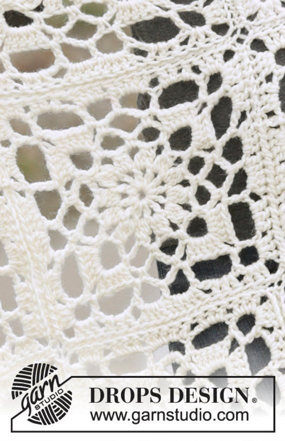 Crochet Winter Crystal 2 Sizes Wool Granny Square with Flower Design ...