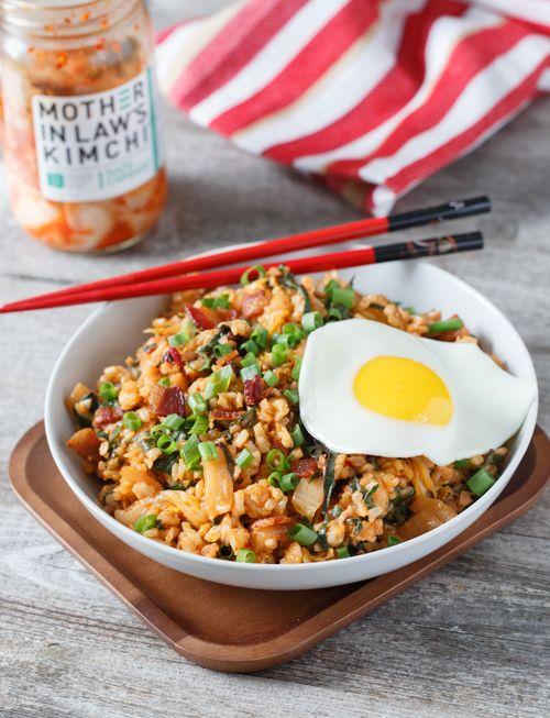 Kimchi Bacon Fried Rice Comida Arroz Frito Recetas De Comida