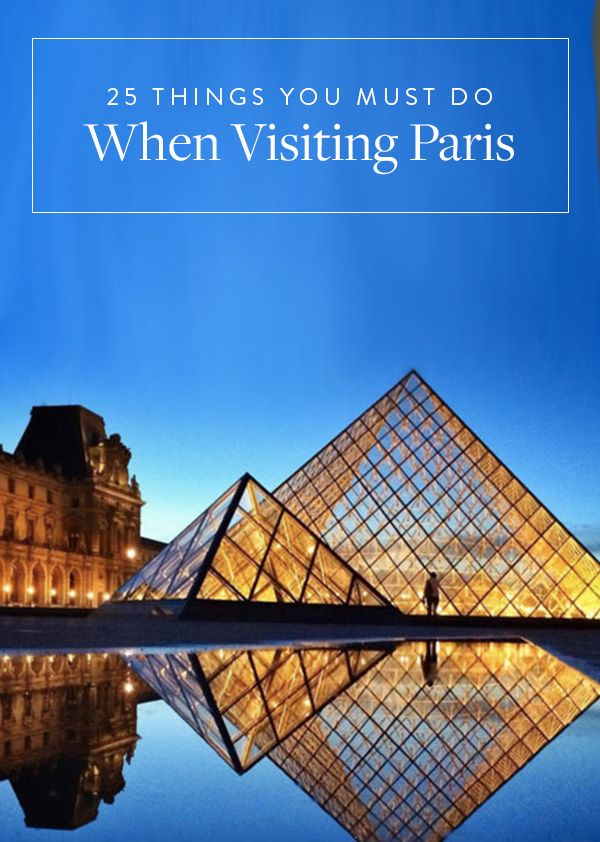25 Things You Must Do When Visiting Paris. If you're visiting the city of light, here are the things you must do when you visit. Paris is beautiful but these spots are must.
