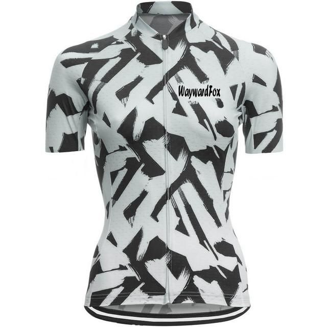 Women's Short Sleeve Cycling Jerseys 100% Breathable Polyester Quick Dry