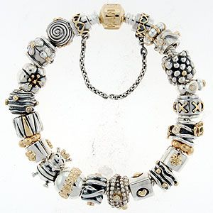 Gold And Silver Pandora Bracelet
