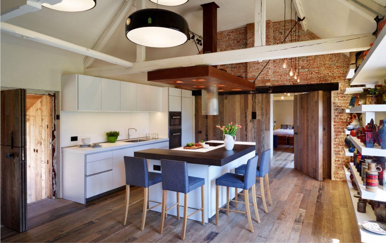 Barn Conversion Kitchens red brick barn conversion | contemporary barn conversions