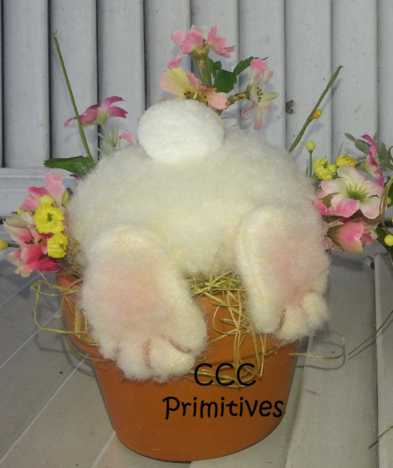 Home Craft Ideas Easter Bunny Flower Pot Craft Flower Pot: Handmade Bunny's In Flower Pot