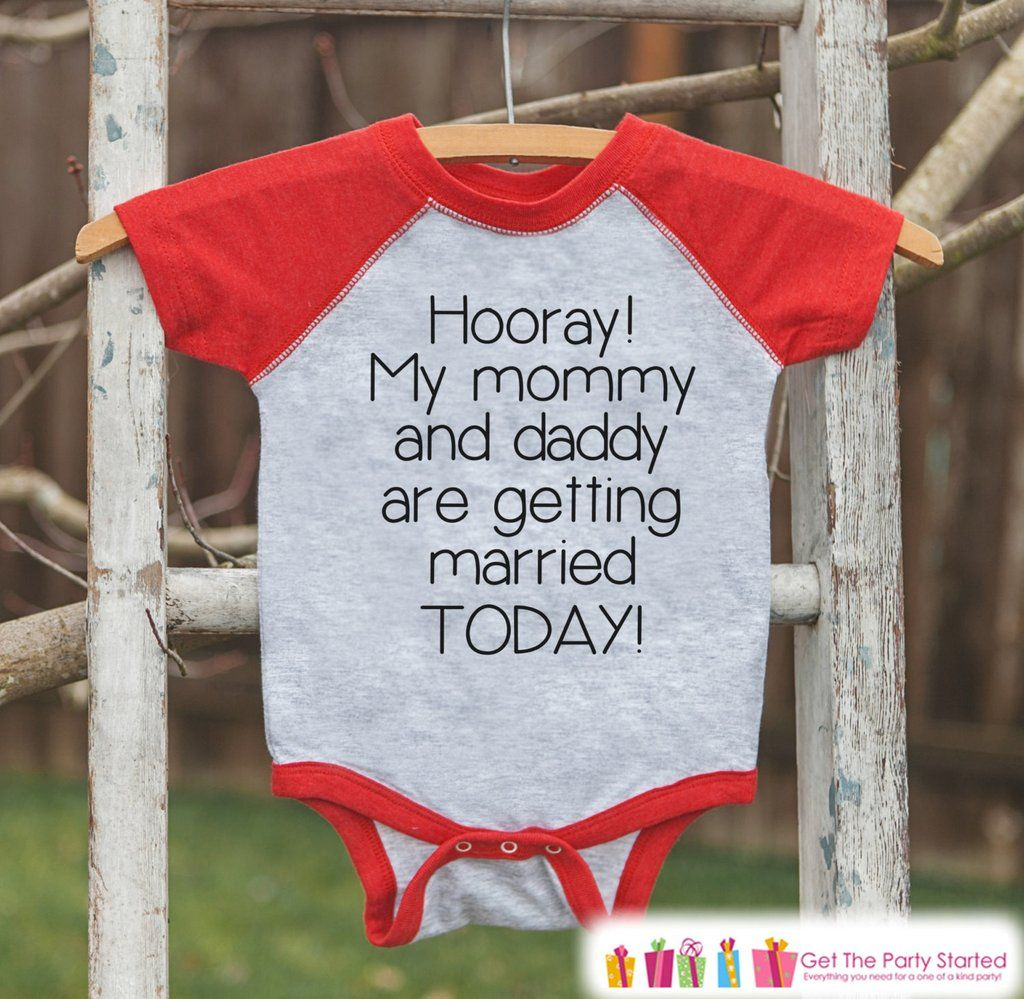 Kids Wedding Outfit - Mommy & Daddy Are Getting Married - Red Raglan ...