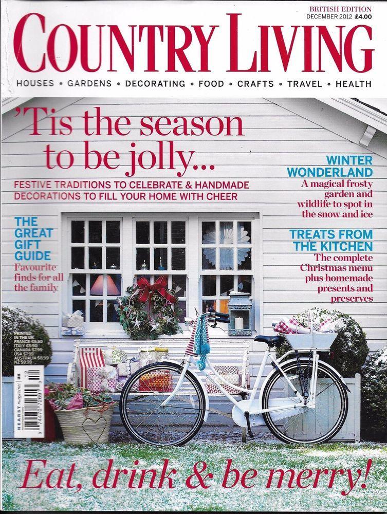 Country Living Magazine Christmas Holiday And Festive Decor Gift