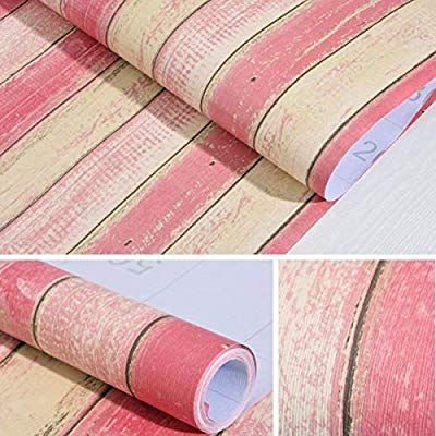 "11.8"" X 118""Wood Contact Paper Peel Stick"