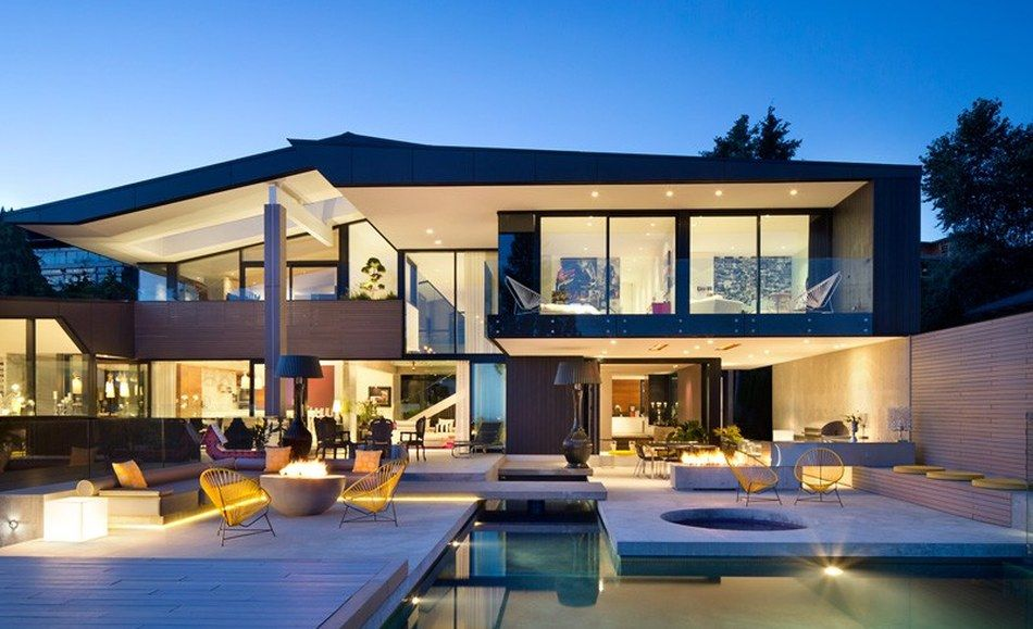 Charmante maison contemporaine canadienne au design très raffiné
