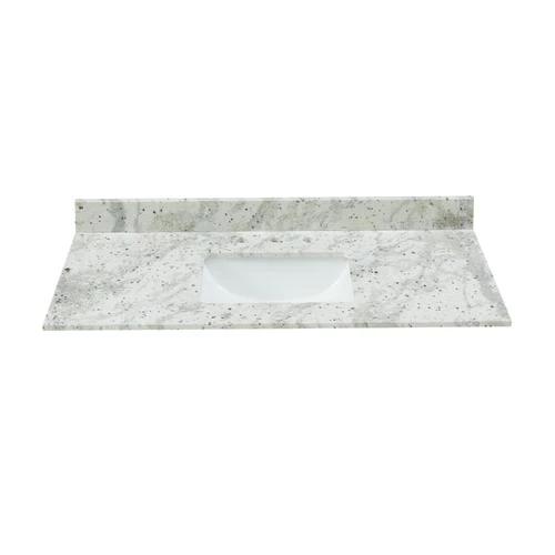 Bestview 43 In Glacier White Granite Bathroom Vanity Top At Lowe S