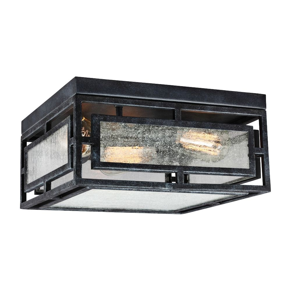 "Murray S Buick Canada Wide Clearance: Prairielands 12"" Wide Dark Weathered Zinc Ceiling Light"