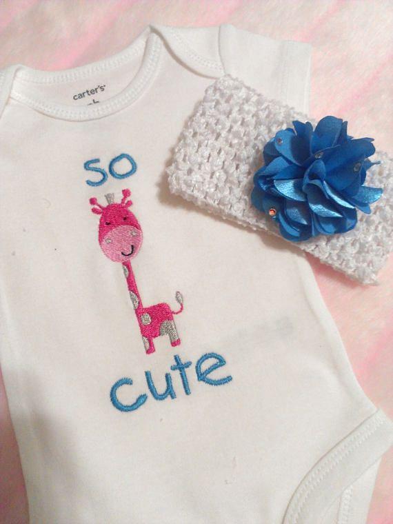 Baby Clothing Baby Girl Baby Onesie Giraffe Design Perfect Sweet