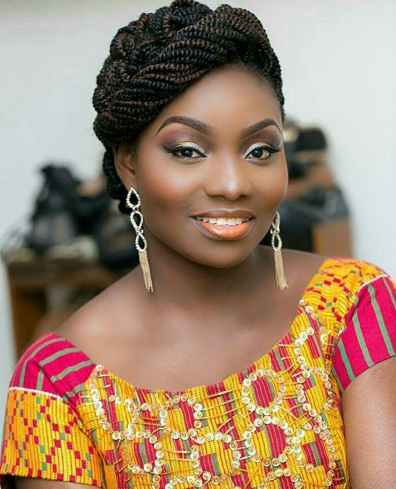 Black Braided Wedding Hairstyles: Pin By Ivy Konadu On Fabulous Kente In 2019