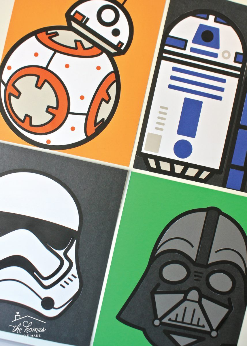 DIY Star Wars Artwork with a Cricut Explore | The Homes I Have Made