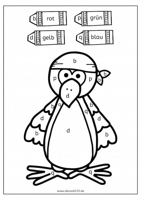 Piraten - Malen nach Buchstaben - | Schule | Pinterest | Kindergarten