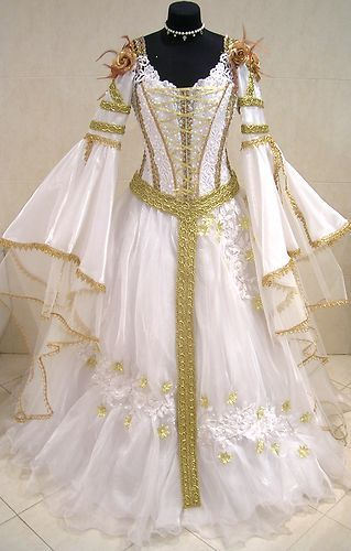 e2e1fbb7719ba Details about MEDIEVAL WEDDING DRESS XS-S-M 8-10-12-14 GOTH WITCH ...