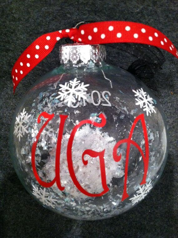 88eef6f5c07 Large UGA Christmas ornament by decaldecorandmore on Etsy