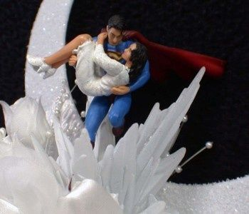 Superman Wedding Cake Topper Lois Lane Lot Gles Knife Se