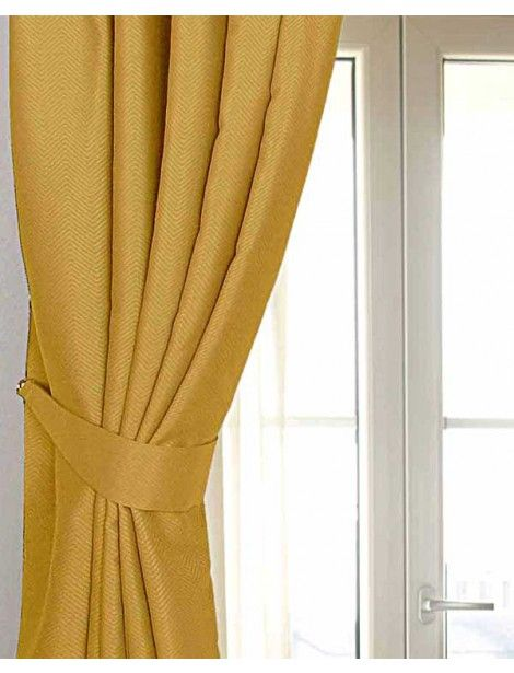 Mustard Yellow Ochre Herringbone Chevron Curtains Tie Backs Pair  Mustard Yellow Curtains