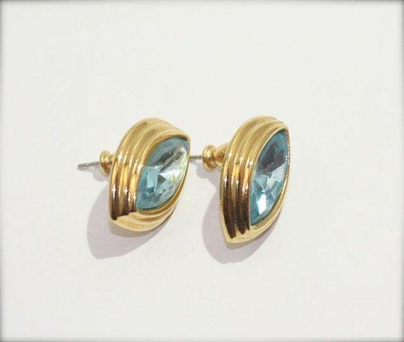 Vintage Monet Blue EarringsVintage Monet by CSvintageGems on Etsy, $15.00
