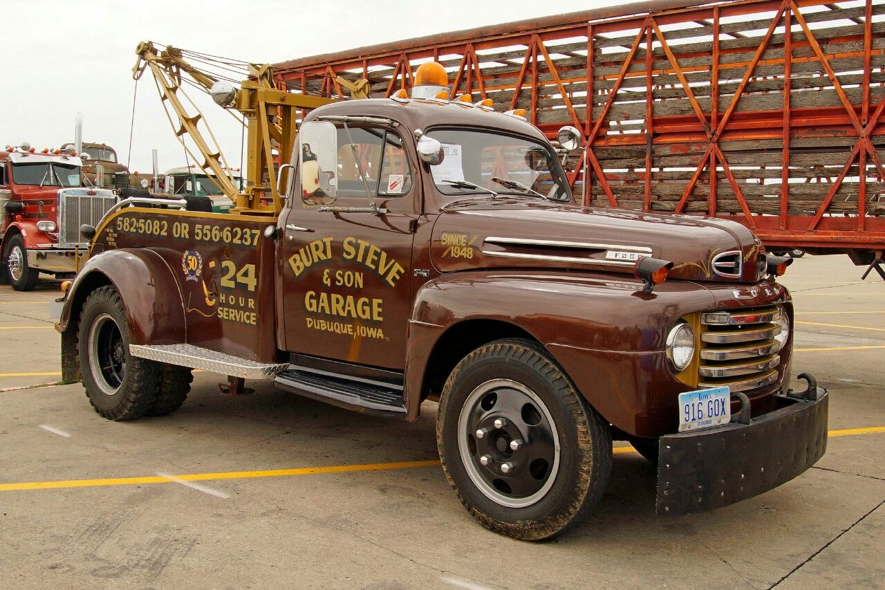 1948 Ford Classic Wrecker Tow Truck Ford Pickup Trucks 1952 Ford Truck