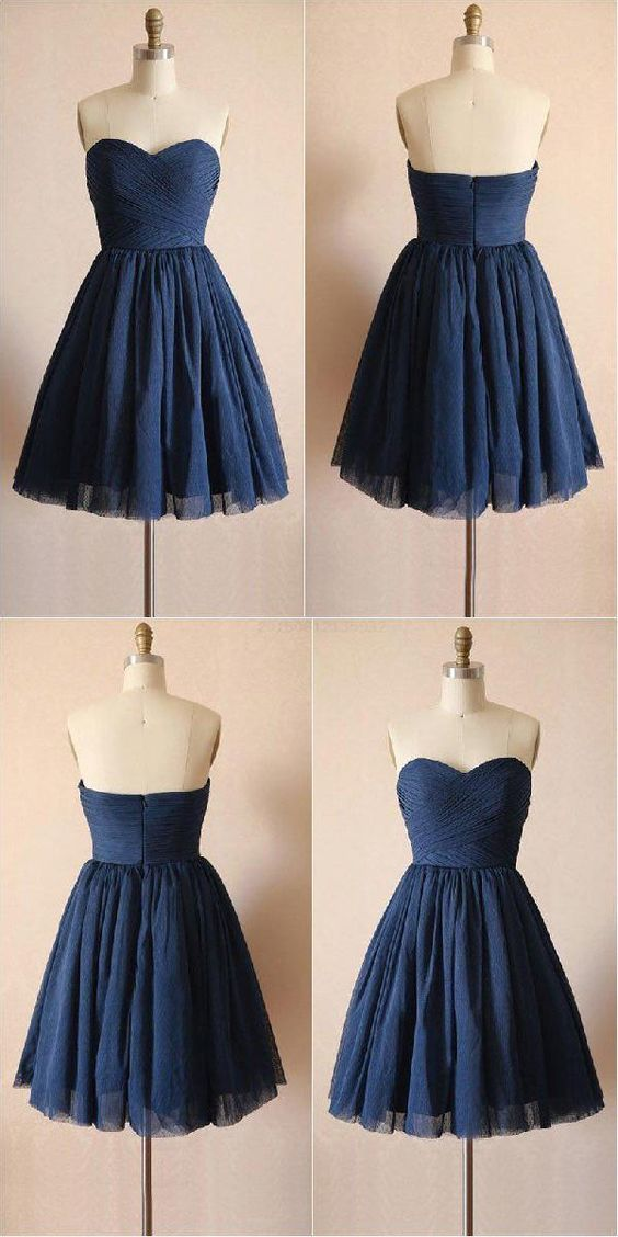 Navy Blue Prom Dresses, Short Homecoming Dress, Prom Dresses Blue, Homecoming Dress #navyblueshortdress