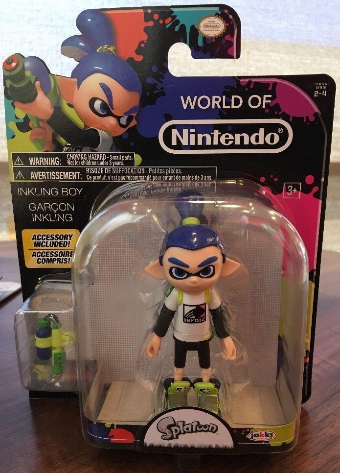 World Of Nintendo Splatoon Inkling Boy 4 Figure Series 2 W BLUE