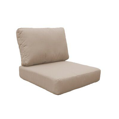 Photo of TK Classics Indoor/Outdoor Lounge Chair Cushion Fabric: Quick – Dry Foam/Acrylic in Wheat, Size 17″ H x 26.5″ W x 26.5″ D | Wayfair