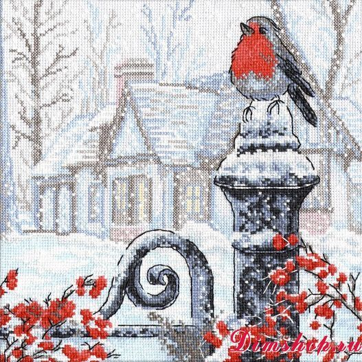 Counted Cross Stitch Kit OVEN BULLFINCHES