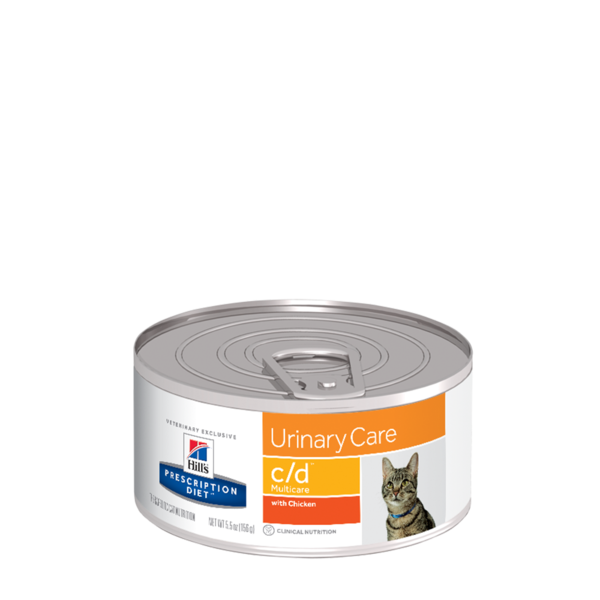 Hills PD c/d for Cats (156g) x 24 Canned cat food, Hills
