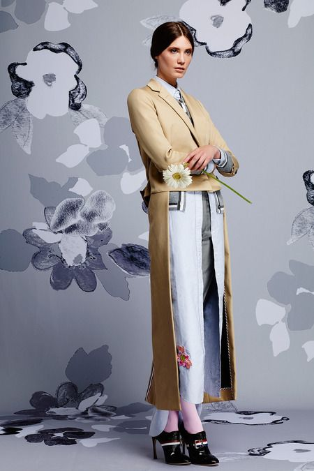 Thom Browne | Resort 2015 Collection | elongated shirting and ankle coat layering
